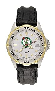 Boston Celtics Mens NBA All-Star Watch (Leather Band) by NBA Officially Licensed