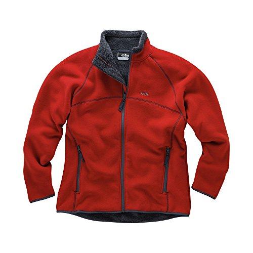 Gill Mens Polar Fleece Jacket in RED 1700 Size-- - Medium