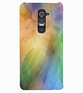 ColourCraft Lovely Feathers Design Back Case Cover for LG G2