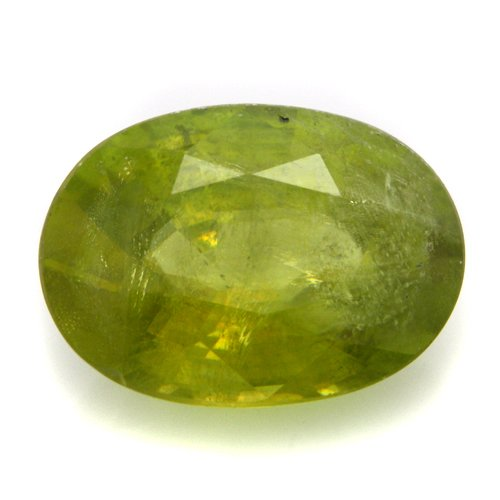 Natural Africa Green Sphene Loose Gemstone Oval Cut 2.05cts 10*7mm