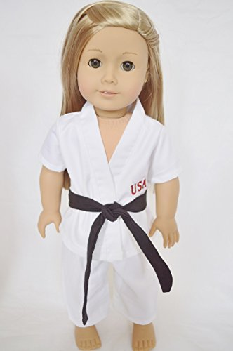 TEAM USA KARATE OUTFIT FOR AMERICAN GIRL DOLLS