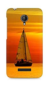 Amez designer printed 3d premium high quality back case cover for Micromax Canvas Spark Q380 (Sunset Sailing)