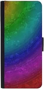 Snoogg Wave Rainbow 2403 Designer Protective Flip Case Cover For Google Nexus 6