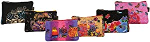 Canvas Corp Cosmetic Bag Zipper Top Assortment, 9 by 1 by 6-Inch, Feline Minis