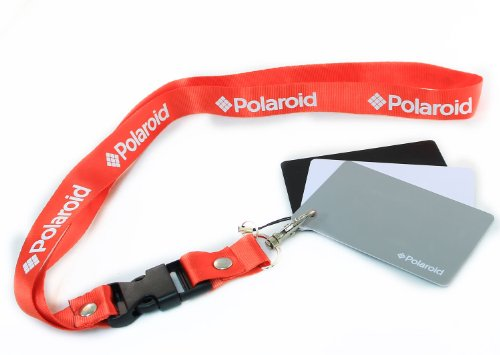 Polaroid Pocket-Sized Digital Grey Card Set With Quick-Release Neck Strap for Digital Photography