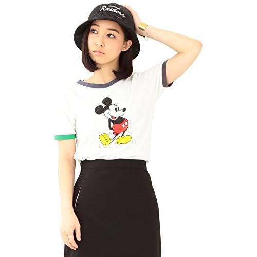(ビームスボーイ) BEAMS BOY CHAMPION×BEAMS BOY / リンガーTシャツ (Mickey Mouse) 13040241411  ホワイト SMALL