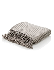 Zig Zag Weaved Throw