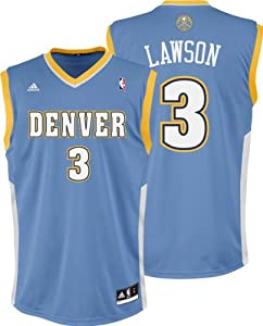 NBA adidas Ty Lawson Denver Nuggets Revolution 30 Replica Performance Jersey - Powder... by adidas