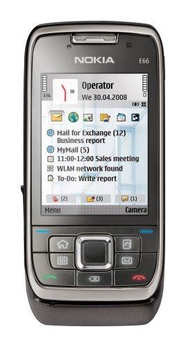 Nokia E66 grey steel (UMTS, WLAN, A-GPS, 3,2 MP, Ovi Karten) Smartphone