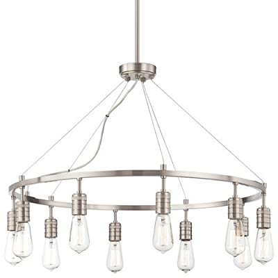 Minka Lavery 4139 10 Light 1 Tier Chandelier from the Downtown Edison Collection,