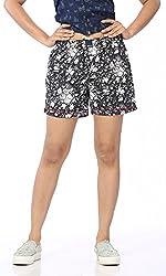 Abony Women's Black Cotton Short