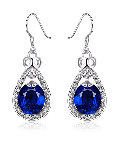 PMANY-Blue-Sapphire-Teardrop-Dangle-Earrings-Classic-Platinum-Plated-CZ-Bridal-Pendant-Earrings