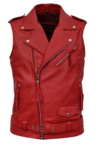 Mens-Brando-Red-Motorcycle-Biker-Steam-Punk-Real-Nappa-Leather-Waistcoat-1025