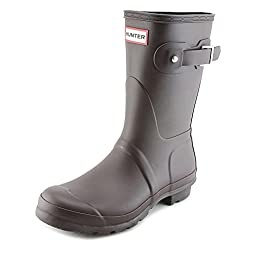 Hunter Original Short Women US 6 Brown Rain Boot