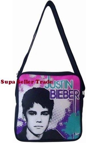 Justin Bieber-Tragetasche Pilot Umhängetasche Schule, Reisen, Tasche mit verstellbarem Tragegurt &Innentasche