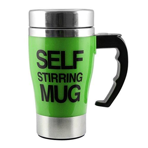 ALAIX che mescola tazza di caffšš - elettrico in acciaio inox automatico Auto di miscelazione Cup - Cute & Divertente, Best for Mattina, Viaggi Verde