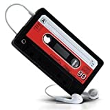 IPHONE 4 4S RETRO CASSETTE SILICONE CASE   BLACK phones