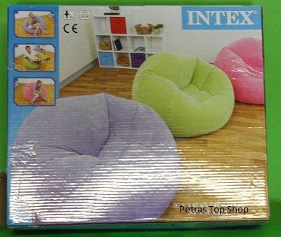 Intex lounge sessel aufblasbar sitzsack zelt ideal from for Sessel aufblasbar
