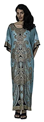 Sante Classics Women's Poly Microfiber Caftan Green Mansion One Size