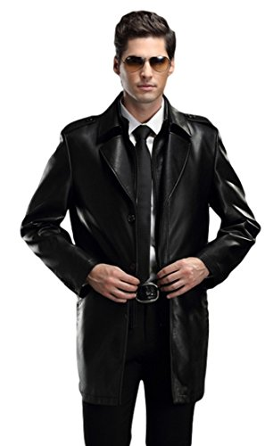 West Leathers Men'S Faux Leather Jackets