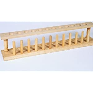 Wooden Test Tube Rack 12 Place 1 Ea Science Lab Tube