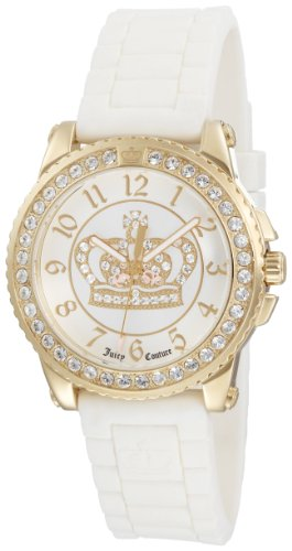 Juicy Couture Women's 1900705 Pedigree White Jelly Strap Watch