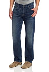 7 For All Mankind Men's Austyn Relaxed Straight Leg Jean in Tinted Authentic