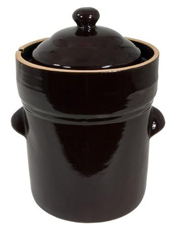 TSM Products 31009  Fermenting Crock Pot, 5-Liter