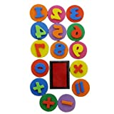Foam Number Stampset - 16 Pcs with Ink Pad Maths Learning Sums School Teaching