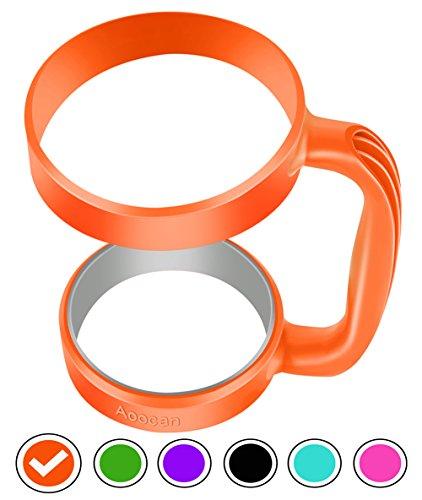 Aoocan Handle for Yeti Rambler 30 oz Tumblers, Rtic, Sic Cup Ozark Trail and more Tumbler mug (Orange)