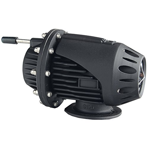 Dewhel Universal BOV SQV 4 SSQV IV Turbo Blow Off Valves JDM W/ 2.5'' Adapter Flange (Black) (Lancer Evolution X Blow Off Valve compare prices)