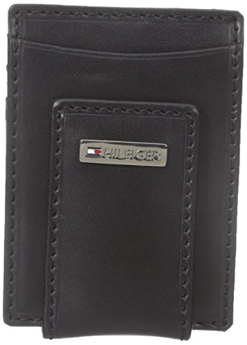 Tommy Hilfiger Men's Fordham Slim Front Pocket Wallet, Black, One Size (Tommy Money Clip compare prices)