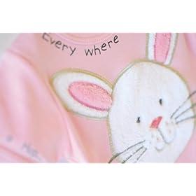Mud Pie Baby EIEIO Bunny Bodysuit