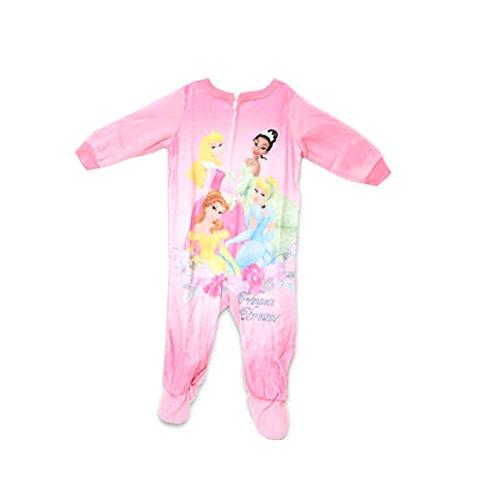 Disney Princess - Baby Girls Disney Princesses Footed Blanket Sleeper, Pink 33974-18Months front-93334