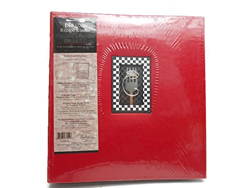 Deluxe Recipe Binder Tapestry (Red) (Tapestry Recipe Binder compare prices)
