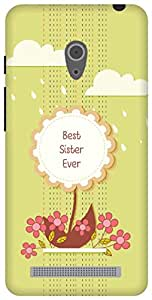 The Racoon Lean Best Sister hard plastic printed back case/cover for Asus Zenfone 6 A600CG/A601CG