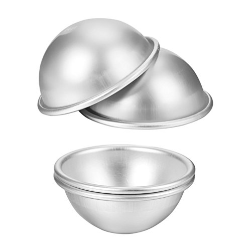 2pcs/set 3D Aluminum Half Ball Sphere Bath Bomb Cake Pan Tin Baking Mold Pastry Mould 4.5cm Dia (Half Sphere Cake Pan compare prices)