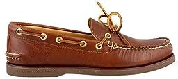 Sperry Top-Sider Men\'s Gold A/O 1-Eye Tan/Gum Boat Shoe 13 M (D)