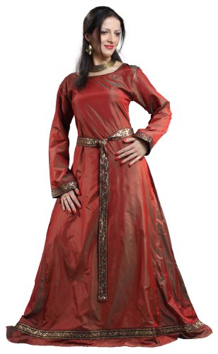 Armor Venue Women's Isabel Silk Dress - Renaissance Gown Costume