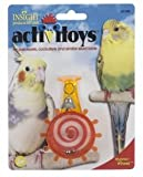 JW Pet Company Activitoy Hypno Wheel Bird Toy for Keets and Tiels Assorted Colors