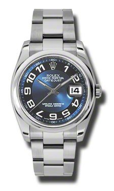 Rolex Datejust Blue Dial Automatic Stainless Steel Ladies Watch 116200BLBKAO