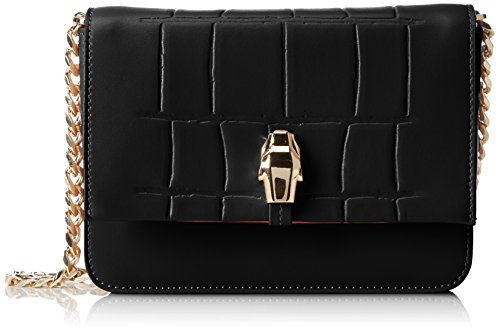 CavalliSmall shoulder bag #Panthera4ever 002 - Borse a Tracolla Donna , Nero (Schwarz (Black 999)), 19x13x5 cm (B x H x T)