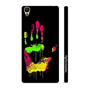 Enthopia Designer Hardshell Case Coloured Hand Print Back Cover for Sony Xperia C6