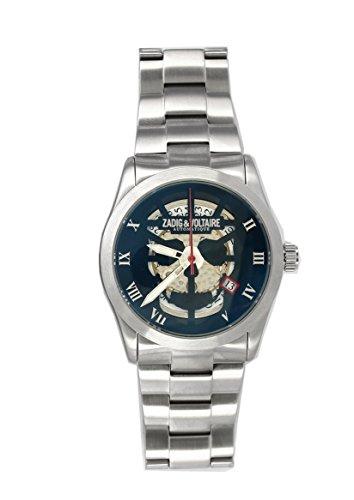 Zadig & Voltaire  - Reloj automático para hombre, correa de acero inoxidable color plateado
