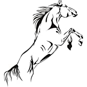 SWORNA Animal Series A Running Pale Horse Removable Vinyl Wall Art Decals Decor Wall Mural Decal Stickers For...
