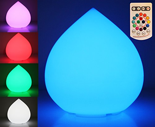 Indoor/Outdoor Wireless Led 16 Color Changing Waterproof Teardrop Table Mood Glow Lamp/Lantern - Party Light With Remote Control