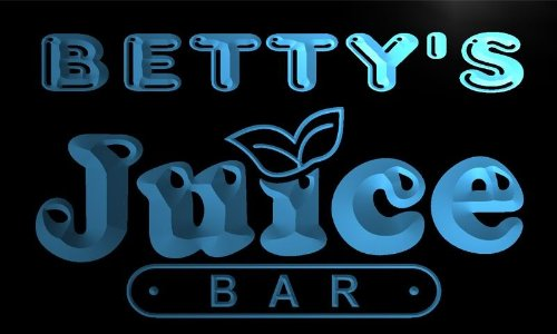 x2014-tm Betty's Juice Bar Custom Personalized Name Neon Sign