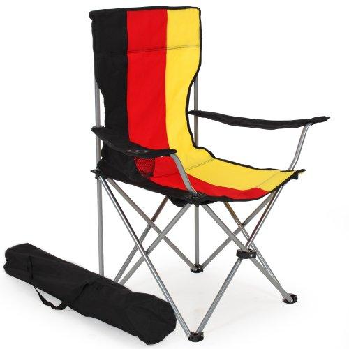TecTake-Campingstuhl-DEUTSCHLAND-Anglersessel-schwarzrotgold-wasserabweisend-mit-Getrnkehalter-inkl-Tragetasche-Regiestuhl
