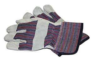 PIP WA4215A-AMZ Brahma Men's Large Glove Leather, Palm Grey, 3-Pack