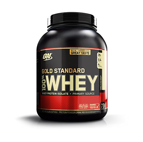 Optimum Nutrition 100% Whey Gold Standard Protein Vanilla Ice Cream, 1er Pack (1 x 2273 g)